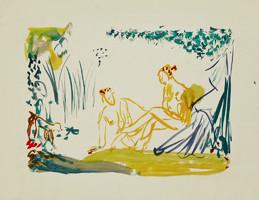 Liebende im Wald, Aquarell auf Papier, 2010 Pepita Basilius