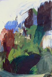 Utopische Landschaft, Mischtechink auf Papier, André d´Orcay